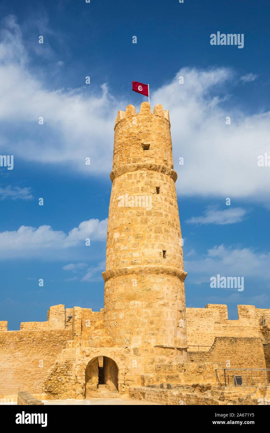 La Tunisia, Monastir, Rabat - fortificato convento islamico Foto Stock