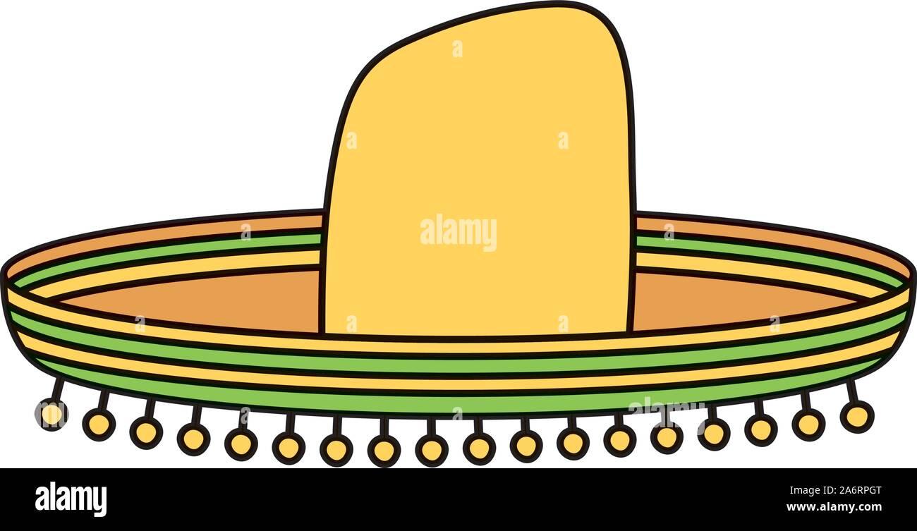 Tradizionale Mexican Hat icona isolato Illustrazione Vettoriale