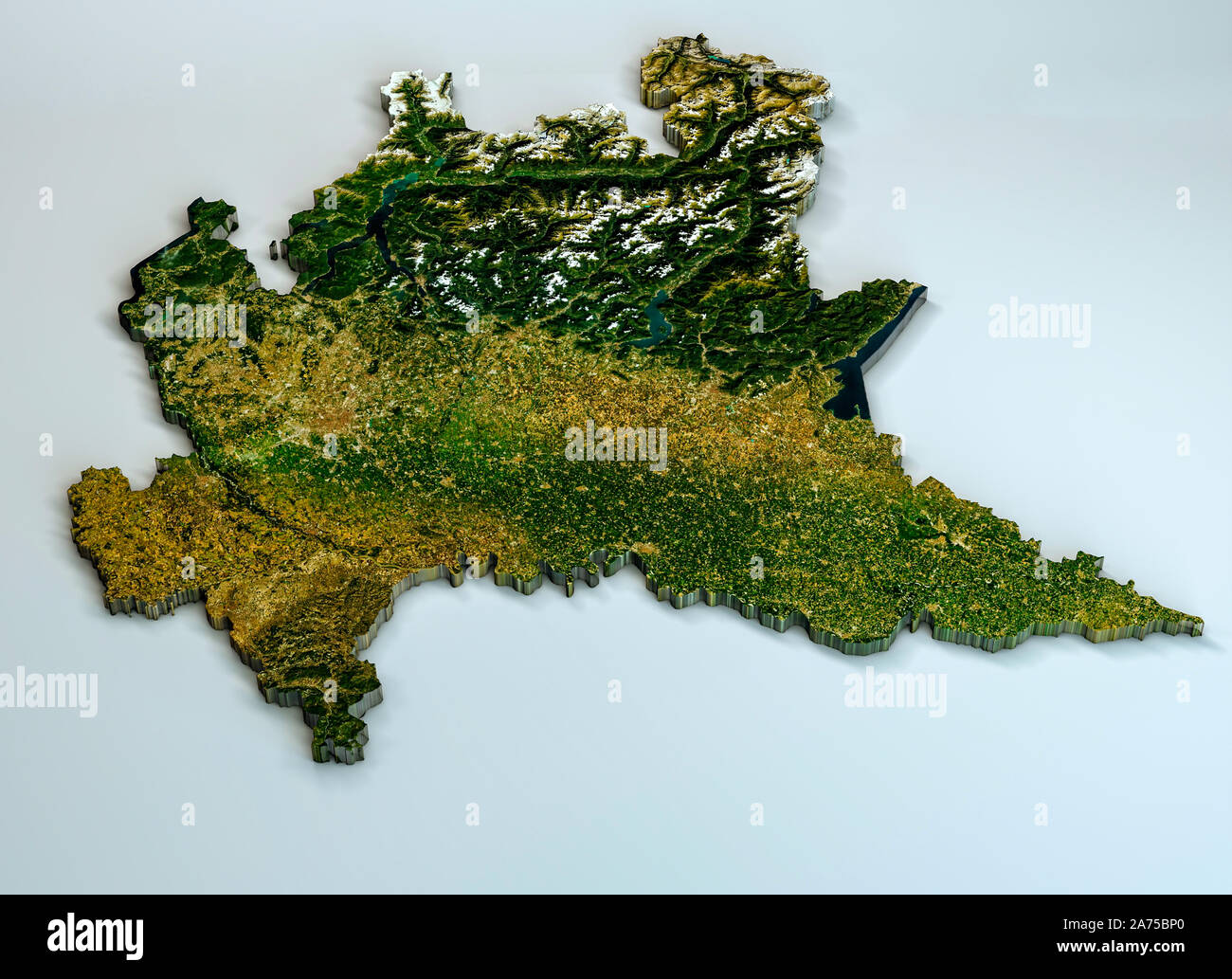 Cartina Satellitare Lombardia.Map Satellite Geography Italy Immagini E Fotos Stock Alamy
