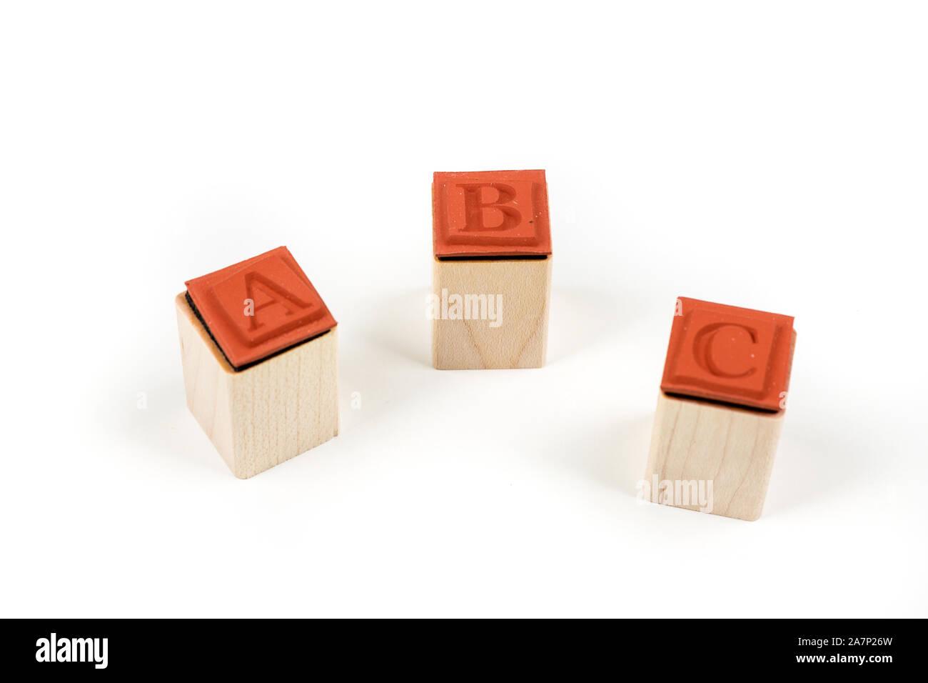 30 TIMBRI IN legno STAMP alfabeto e simboli segni punti SET x SCRAPBOOKING
