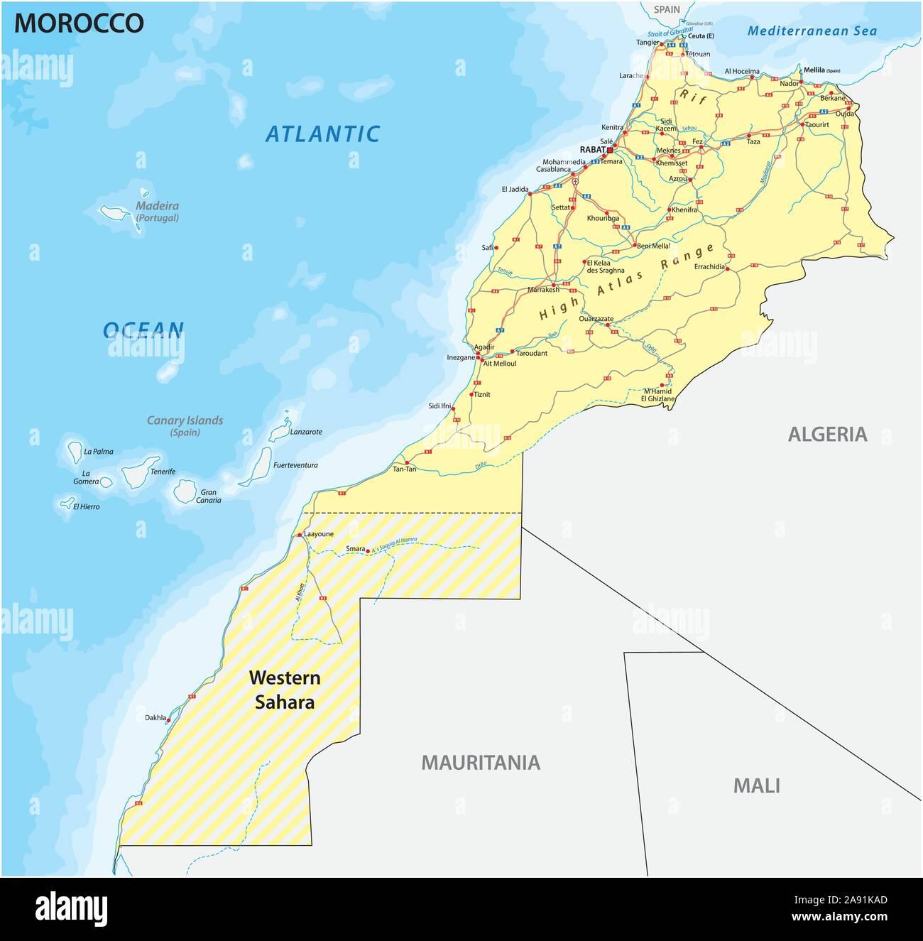 Marocco Cartina Geografica Fisica.Casablanca Morocco Map Immagini E Fotos Stock Alamy