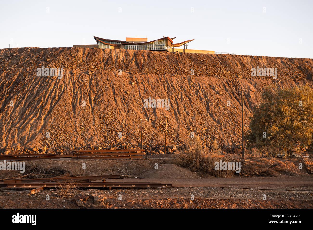 Linea di Lode minatori Memorial - Broken Hill, Nuovo Galles del Sud, Australia Foto Stock