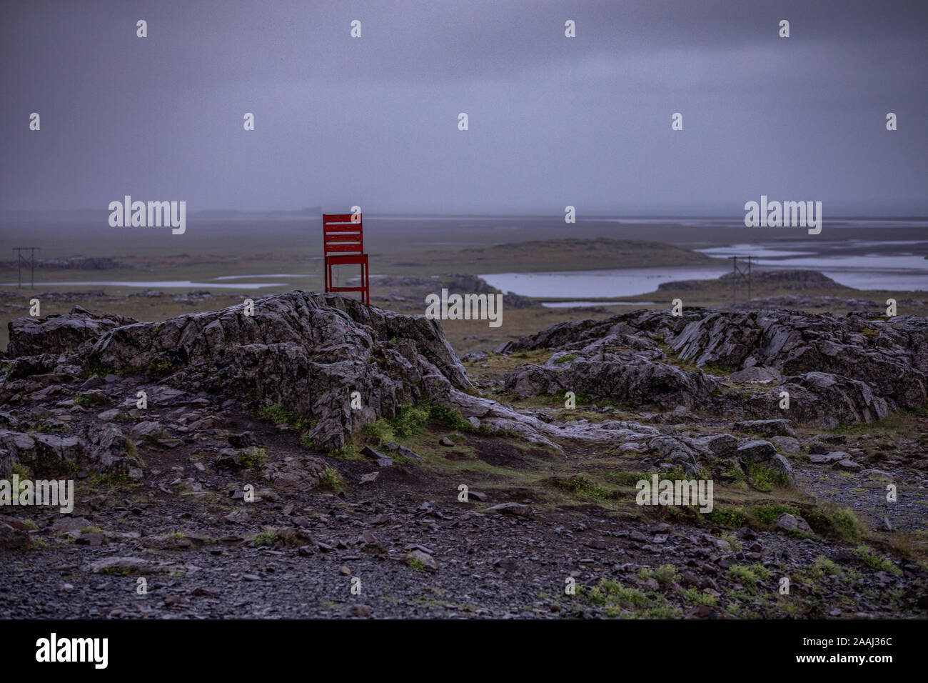 Sedia Rossa Islanda Immagini e Fotos Stock Alamy