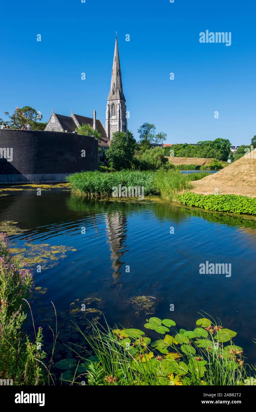 San Alban la Chiesa a Copenaghen, Danimarca, Europa Foto Stock