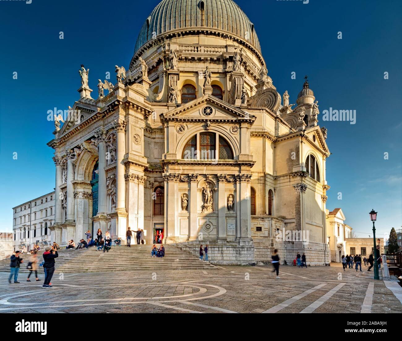Basilica di Santa Maria della Salute, Venezia Foto Stock