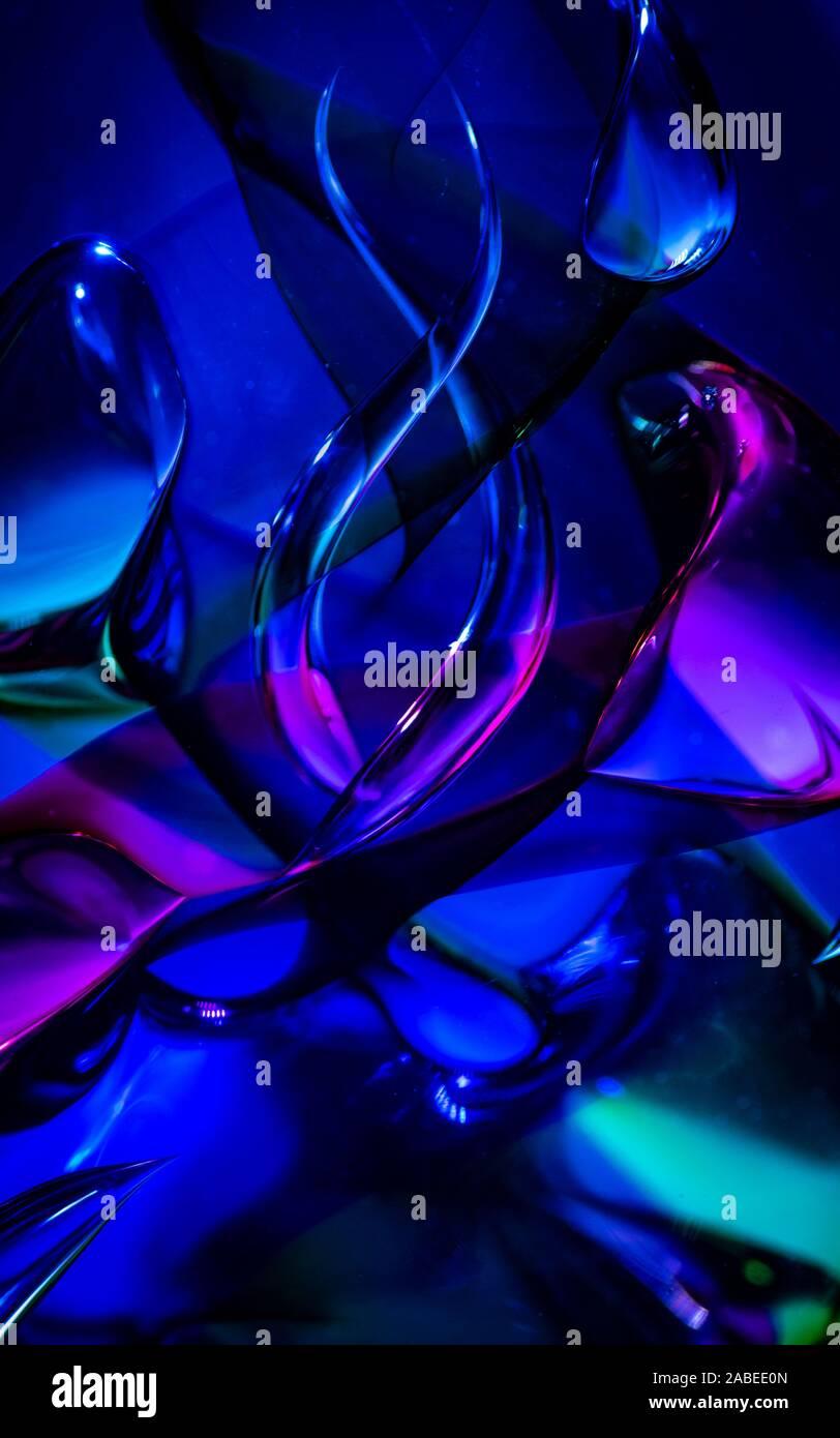 Abstract vetro colorato sfondo con colori ricchi Foto Stock