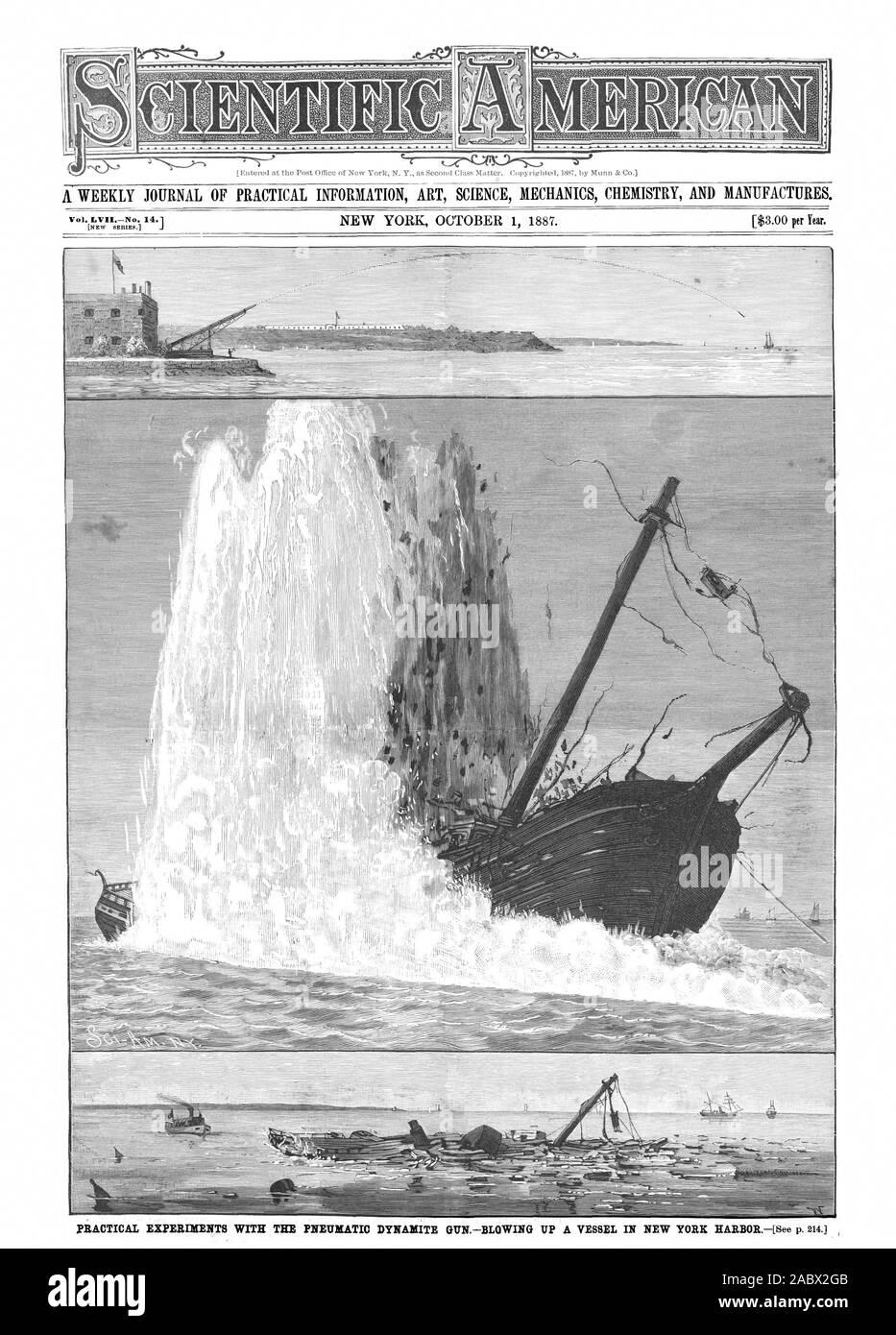 Giornale settimanale di informazioni pratiche arte scienza meccanica e chimica produce., Scientific American, 1887-10-01 Foto Stock