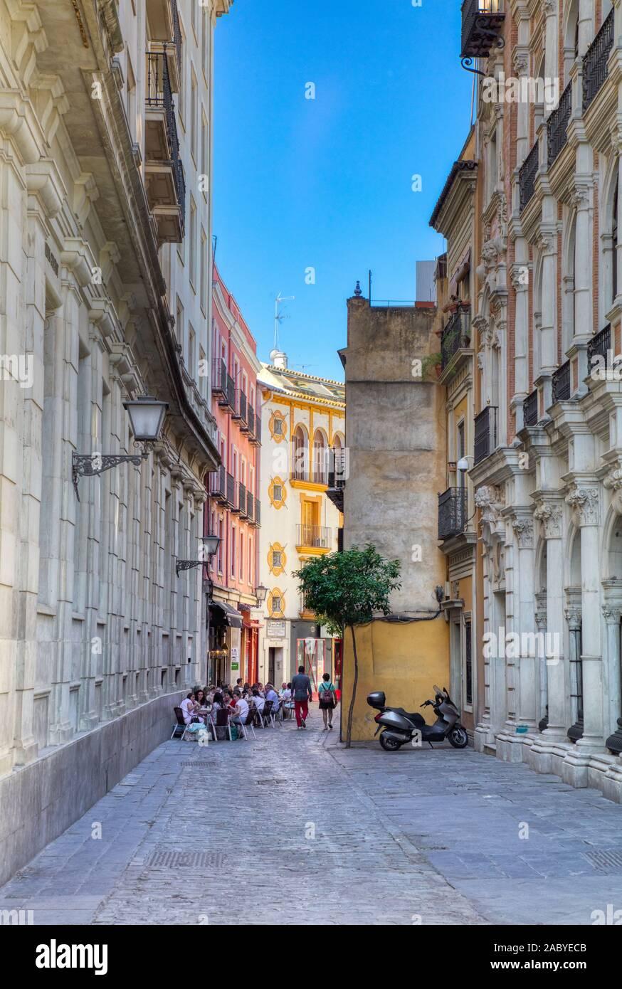 Santa Cruz, il vecchio quartiere ebraico di Siviglia Andalusia Spagna Foto Stock