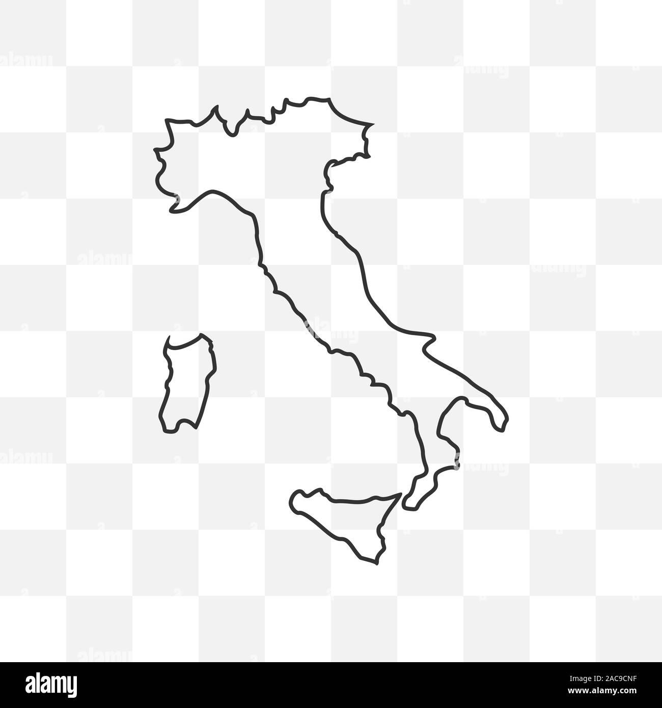 Italia Cartina Vettoriale.Mappa Italia Su Sfondo Trasparente Illustrazione Vettoriale Immagine E Vettoriale Alamy