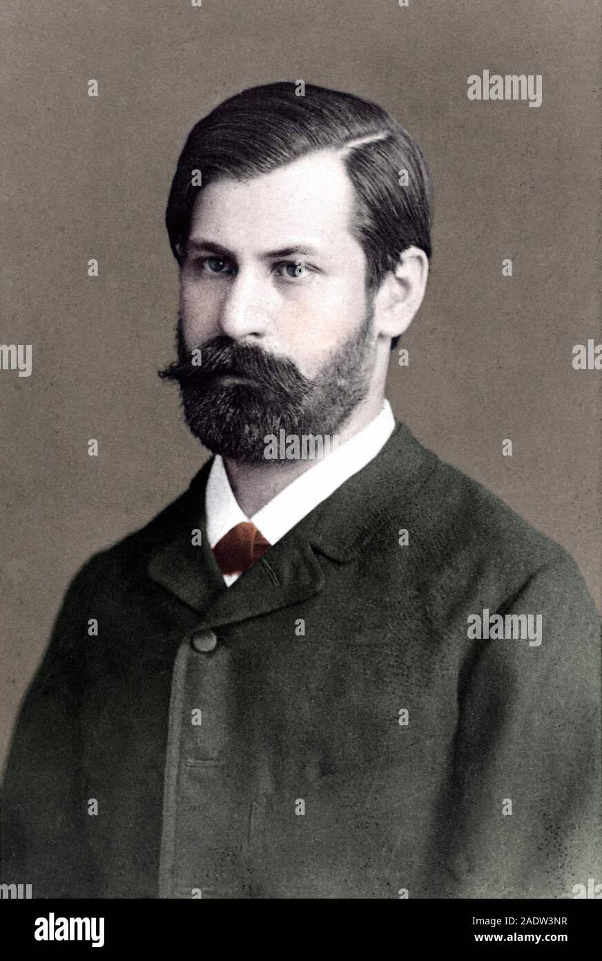 FREUD Sigmund (Freiberg, 1856-Londres, 1939). Neurólogo y psiquiatra austríaco, de origen judío. FREUD en el año 1885. Foto Stock