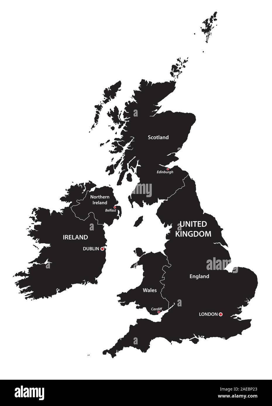 Cartina Gran Bretagna Bianco E Nero.Belfast Vector Map Immagini E Fotos Stock Alamy