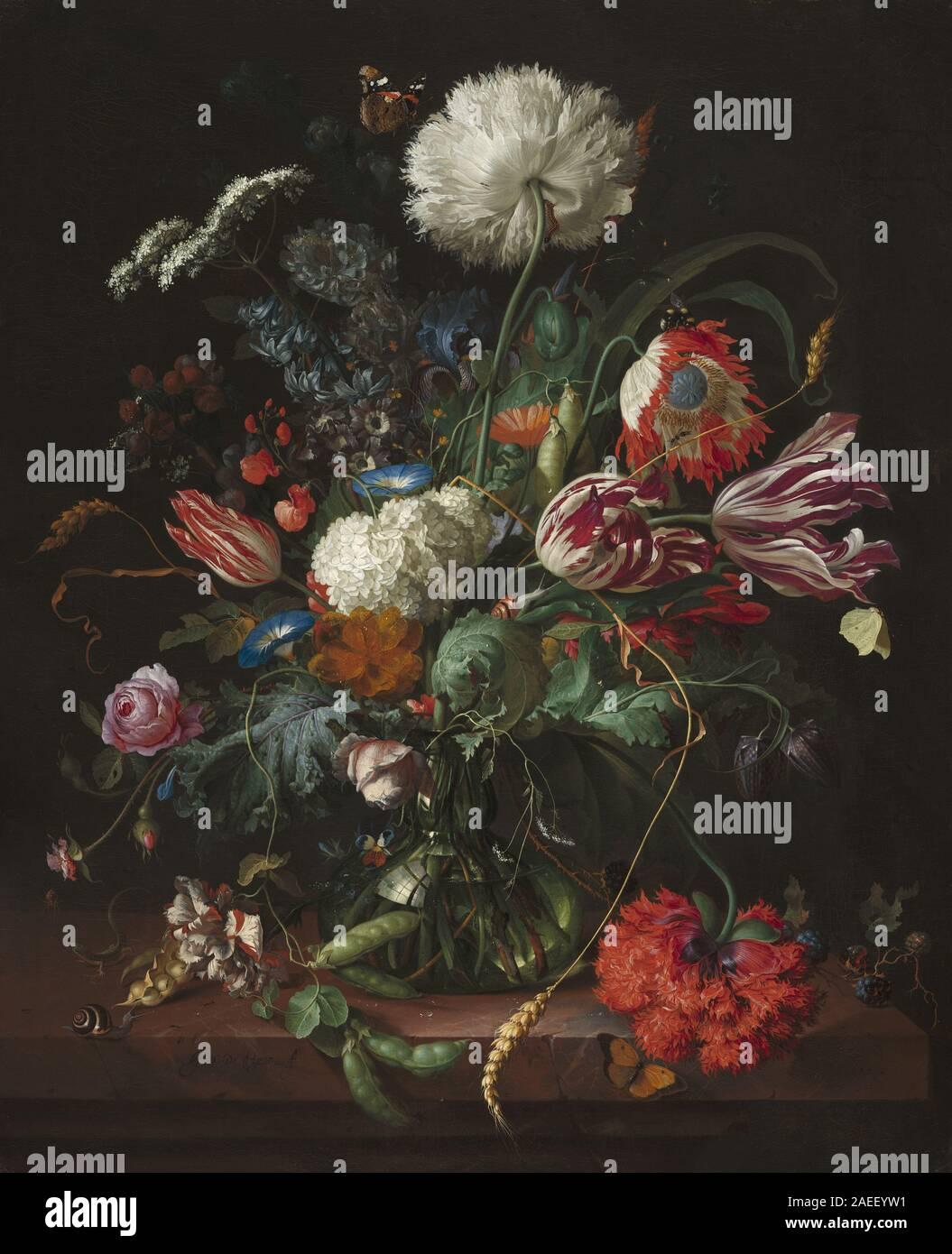 Jan Davidsz de Heem, un vaso di fiori, c 1660 Vaso di fiori; circa 1660 data Foto Stock