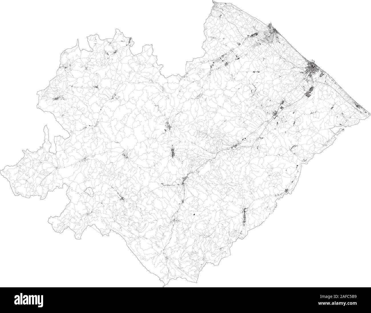 Cartina Geografica Provincia Di Pesaro Urbino.Pesaro Urbino Immagini Vettoriali Stock Alamy