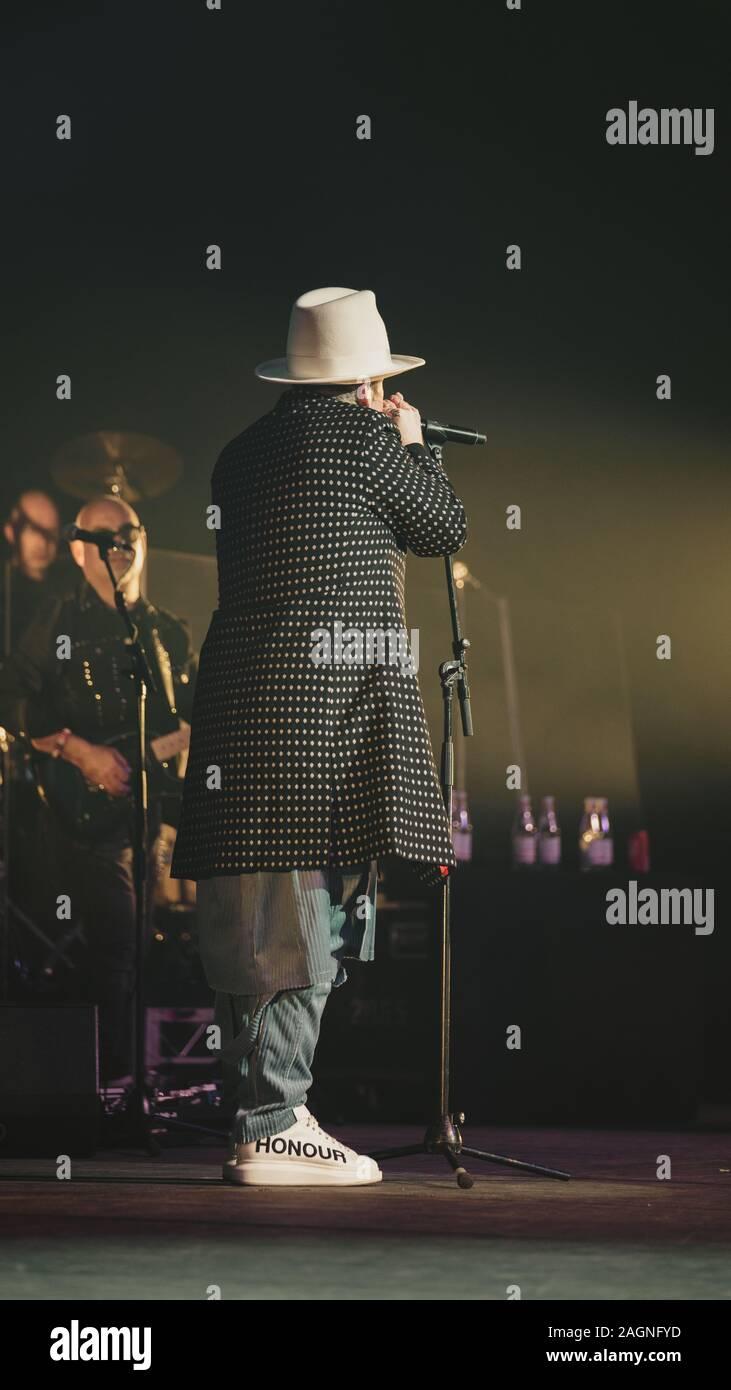 BRISBANE, Australia - 19 OTT 2017: Cultura Club sono un inglese un gruppo pop che si è formata a Londra nel 1981. Il nastro comprende Boy George Foto Stock