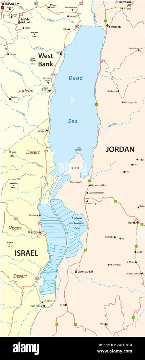 Cartina Israele Giordania.Israel Palestine Map Immagini E Fotos Stock Alamy