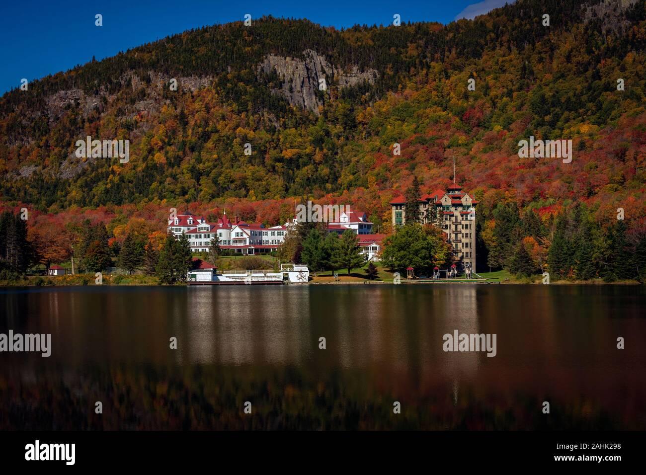 Dixville Notch, New Hampshire, Stati Uniti d'America - 30 Settembre 2019: il balsamo Resort slated per essere riproposto come una importante area sciistica. Foto Stock