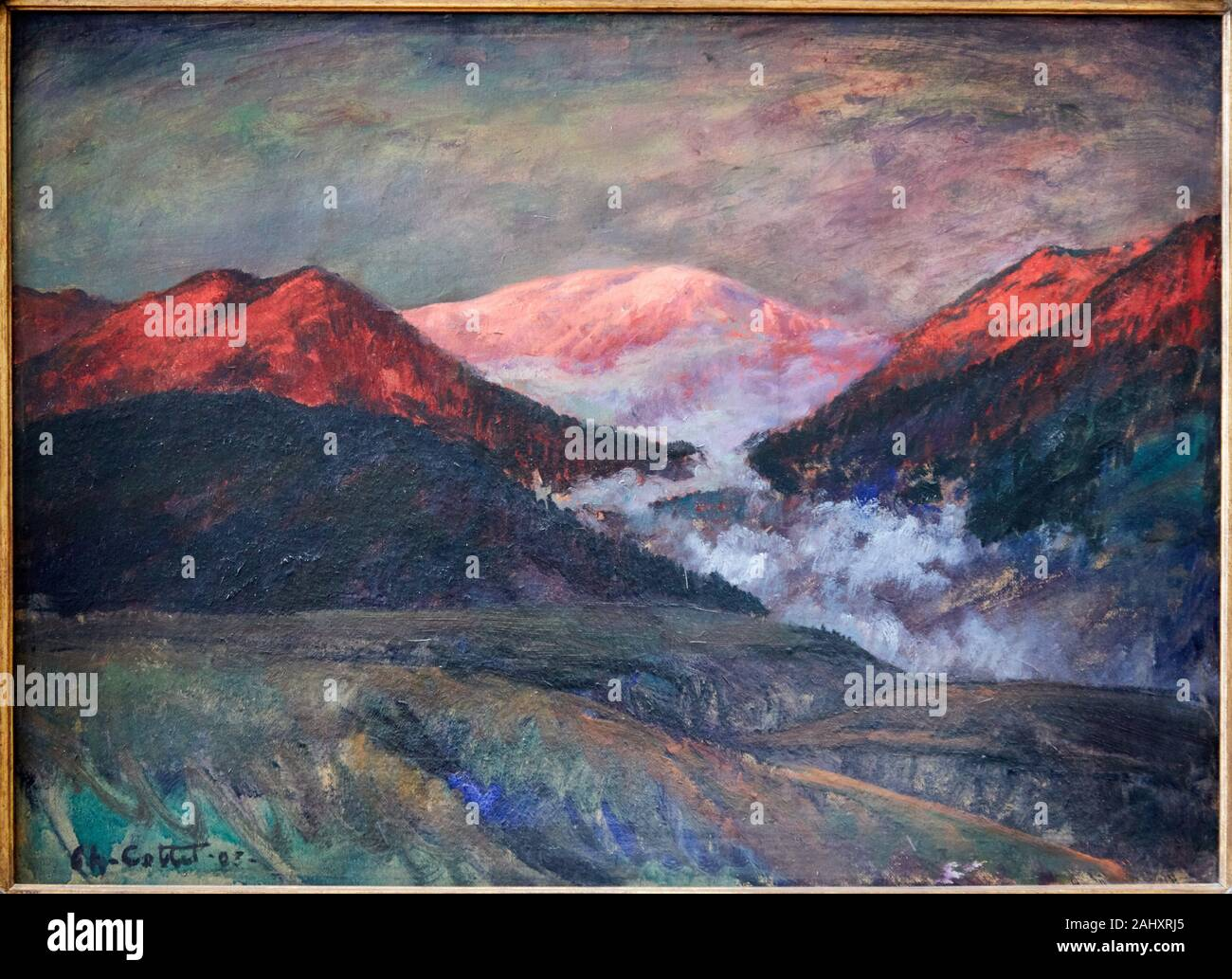 '''Nebbia in montagna al crepuscolo'' 1903, Charles Cottet (1863-1925), il Musée Rodin Museum, Parigi, Francia Foto Stock