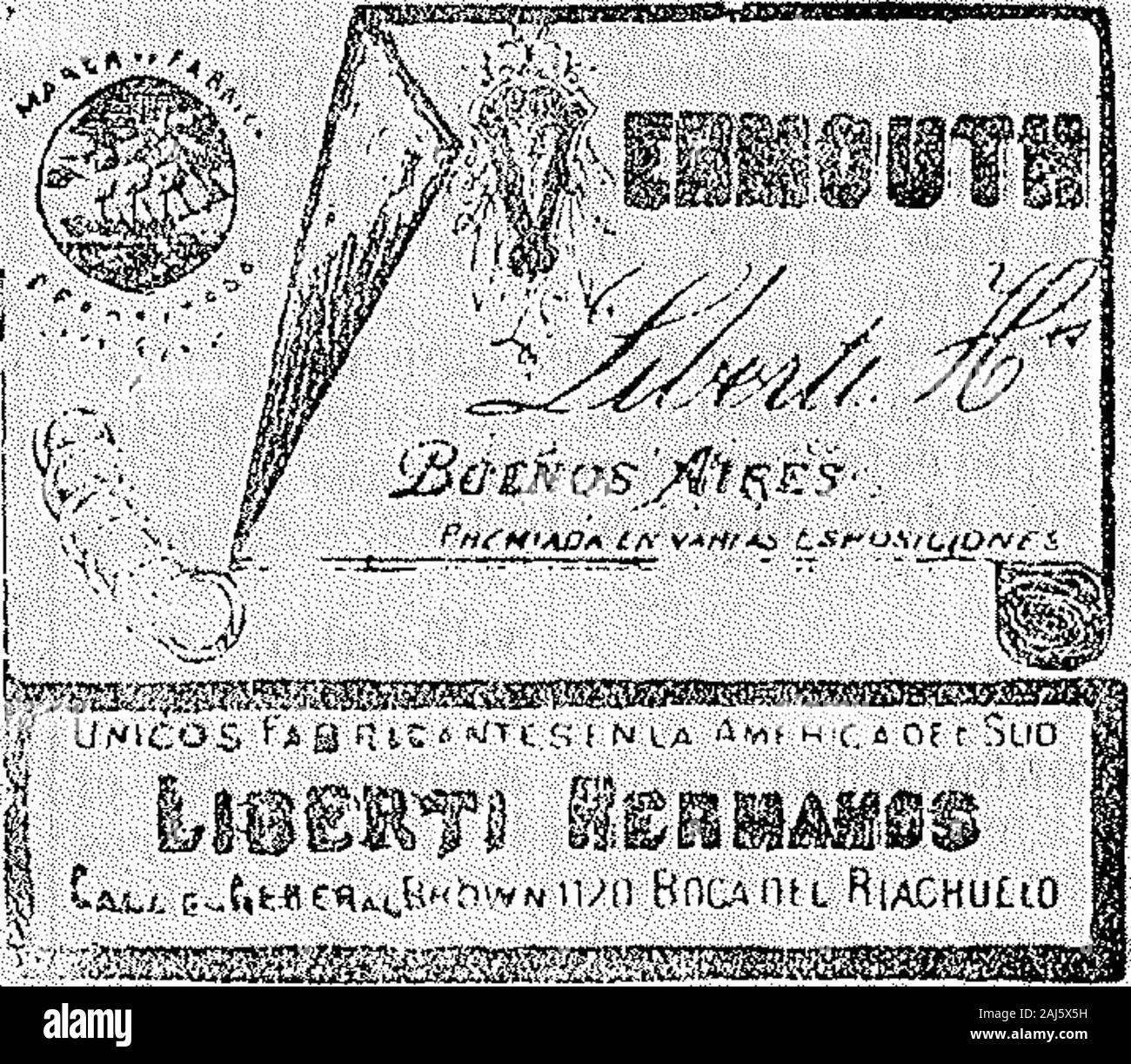 """Boletín Oficial de la República Argentina 1903 1ra sección . Mavo 5S de 1903.-Benelbas Hermanos yCia.-Distinguir tejidos, confecciones, mer-cerin, zanaioria, ...rsiMeria y sombrería,Alsina 879. vO-Junio. Acia No.lff.047 . Junio 2 de 1903.-Ángel Glauda.-dis-tinguir ONU-licor. Alsina 1241. ? V-9-Junio..  :.C(u_,6<.f""""wit<""""A,6""""hv¥M iun Boca nt i RiaChuUO Vr____fi________KS5 Junio 3 de 1903.- Liberti Hnos.-Distin-guir vermouth. G. Brown 1120. v 9 Junio. BOLETÍN OoiClAL 11943 Acia m°. 13.019 35133185 <?x¿=o - WILH ELM mEGtR ¿R""""S """"..íí^-.Ho Jnveníor* e Solé Uomo""""[- .ur:r Foto Stock"""