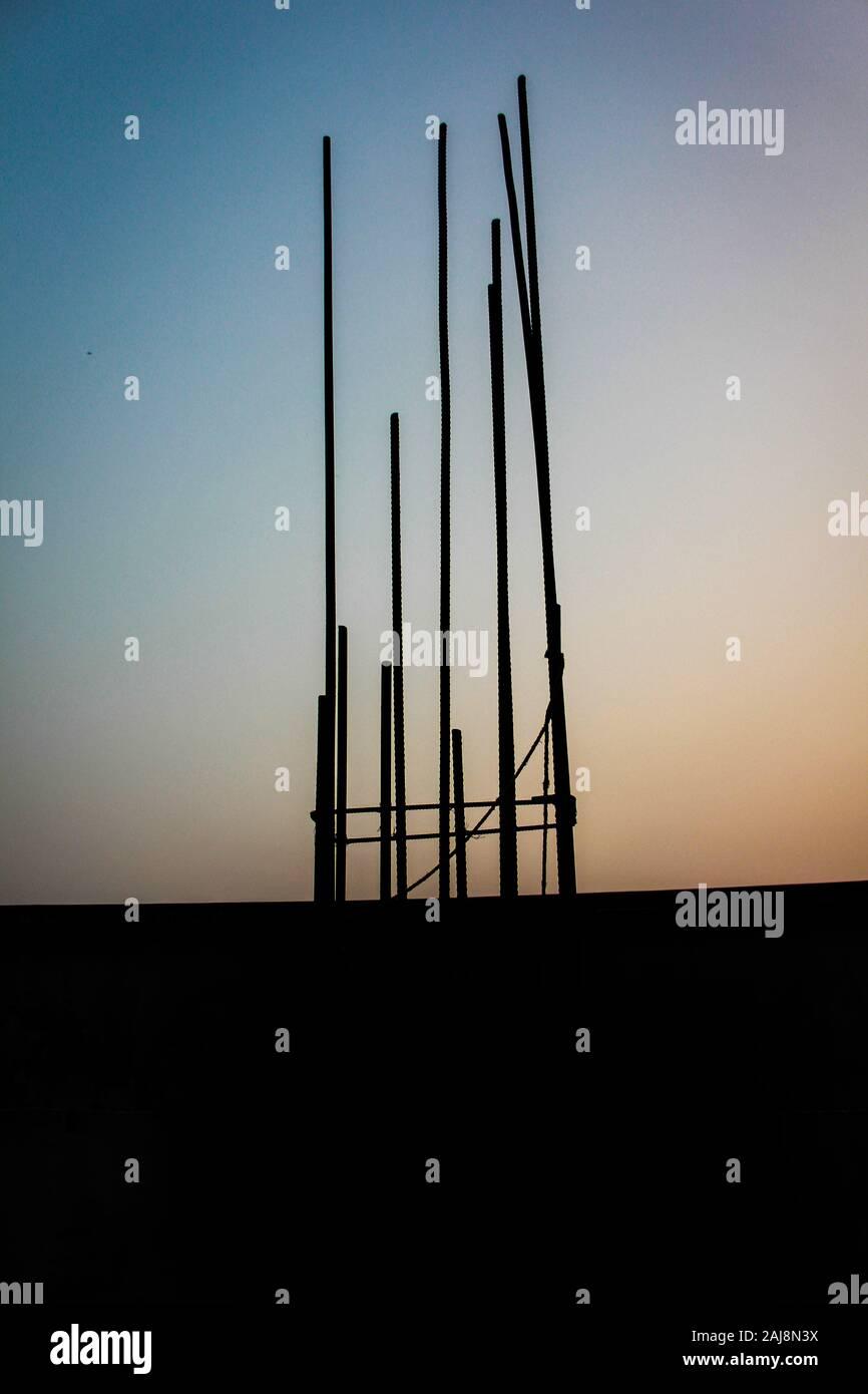 In un edificio di costruzione in Bangladesh Foto Stock