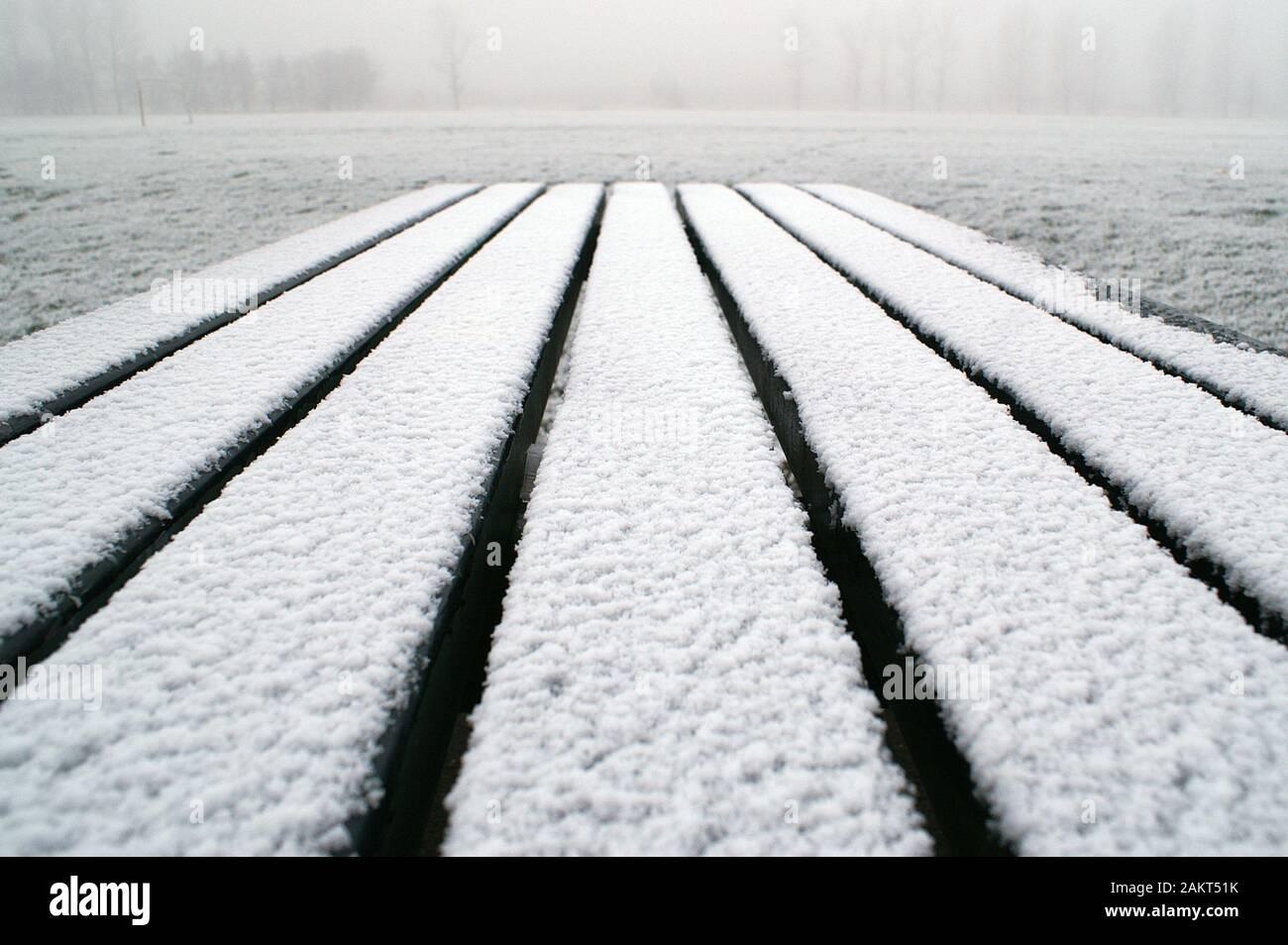 Coperte di neve paesaggio dello Yorkshire Foto Stock
