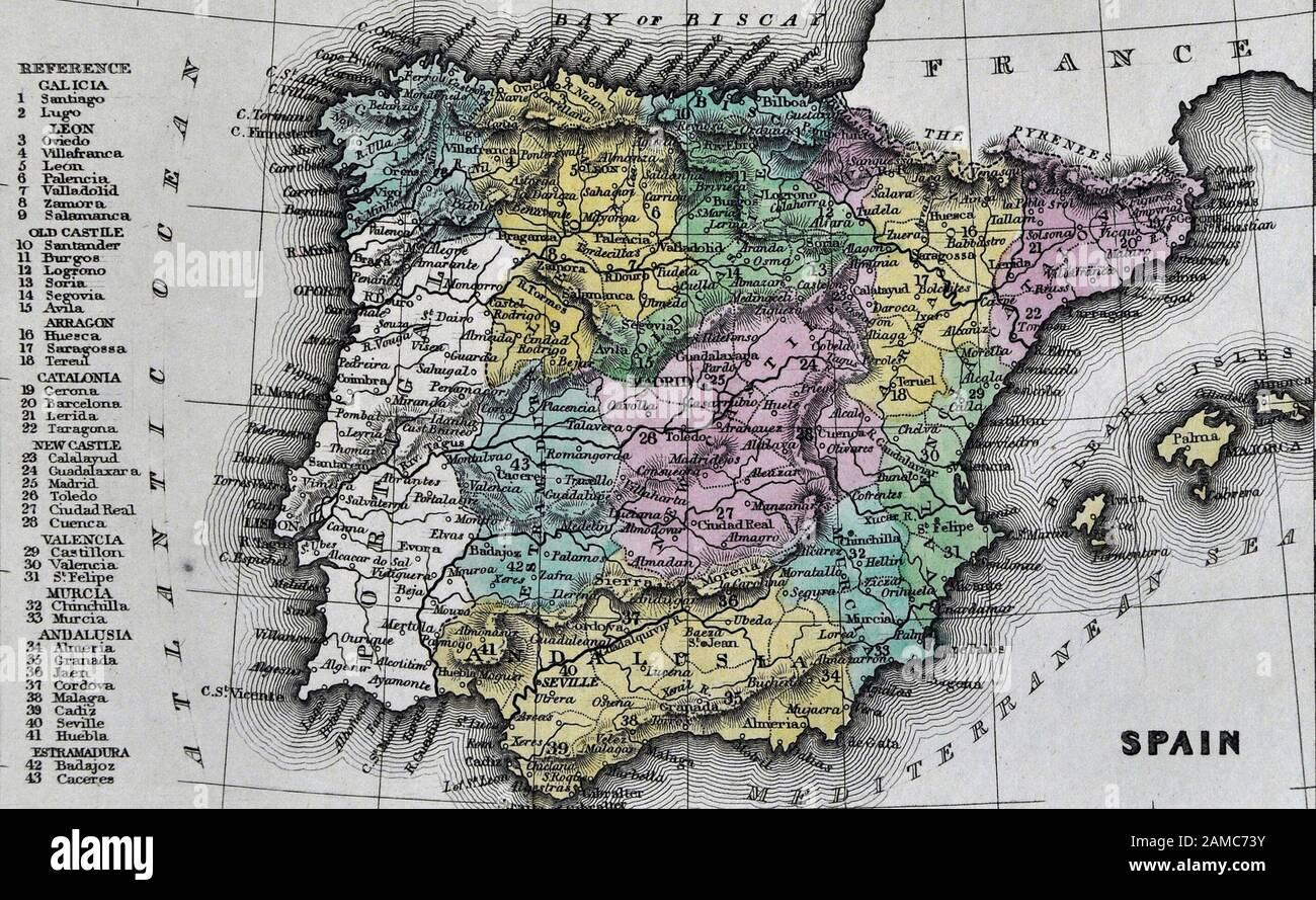 Cartina Spagna Toledo.Map Of Toledo Immagini E Fotos Stock Alamy