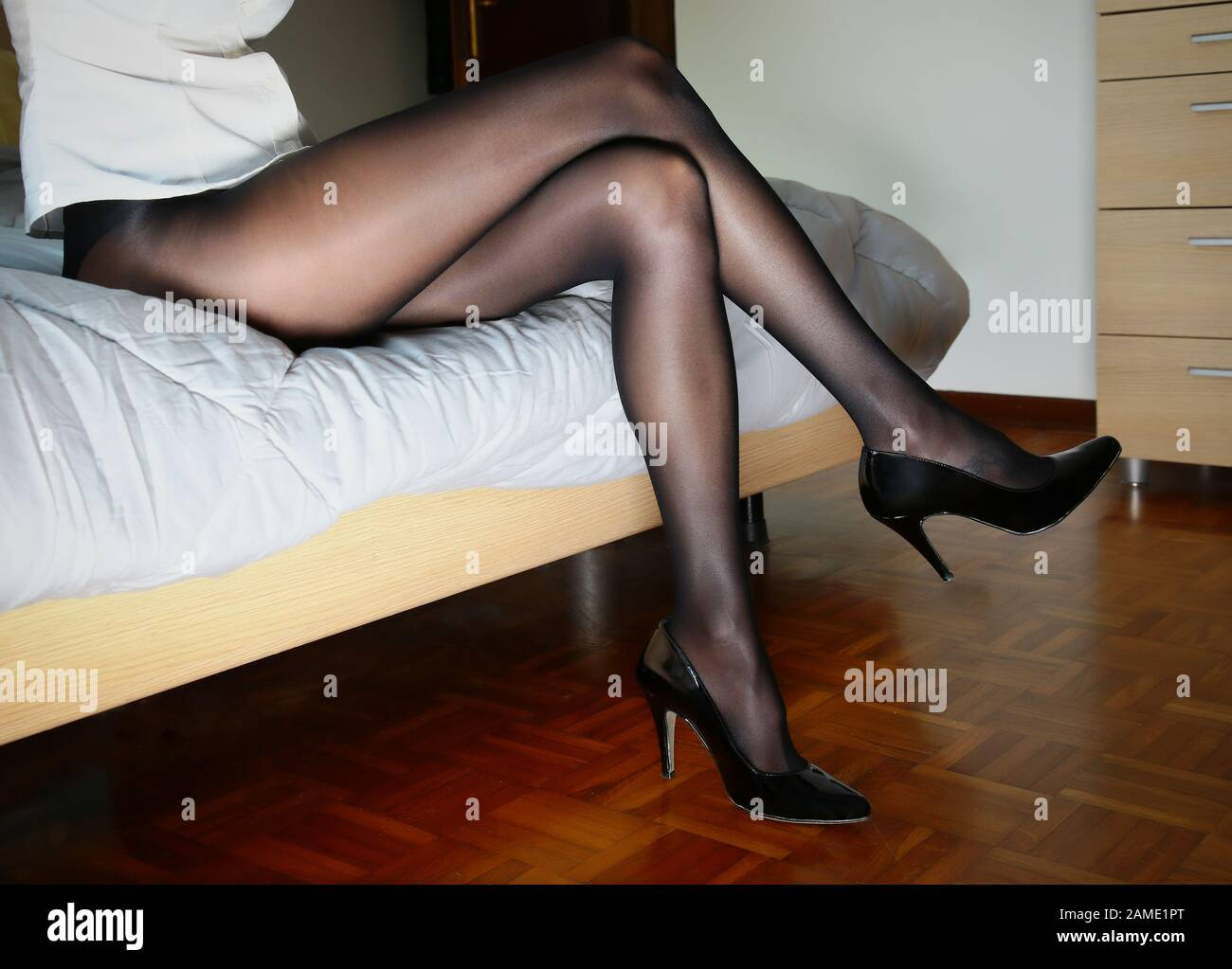 Black Stockings Tights Pantyhose Immagini e Fotos Stock Alamy