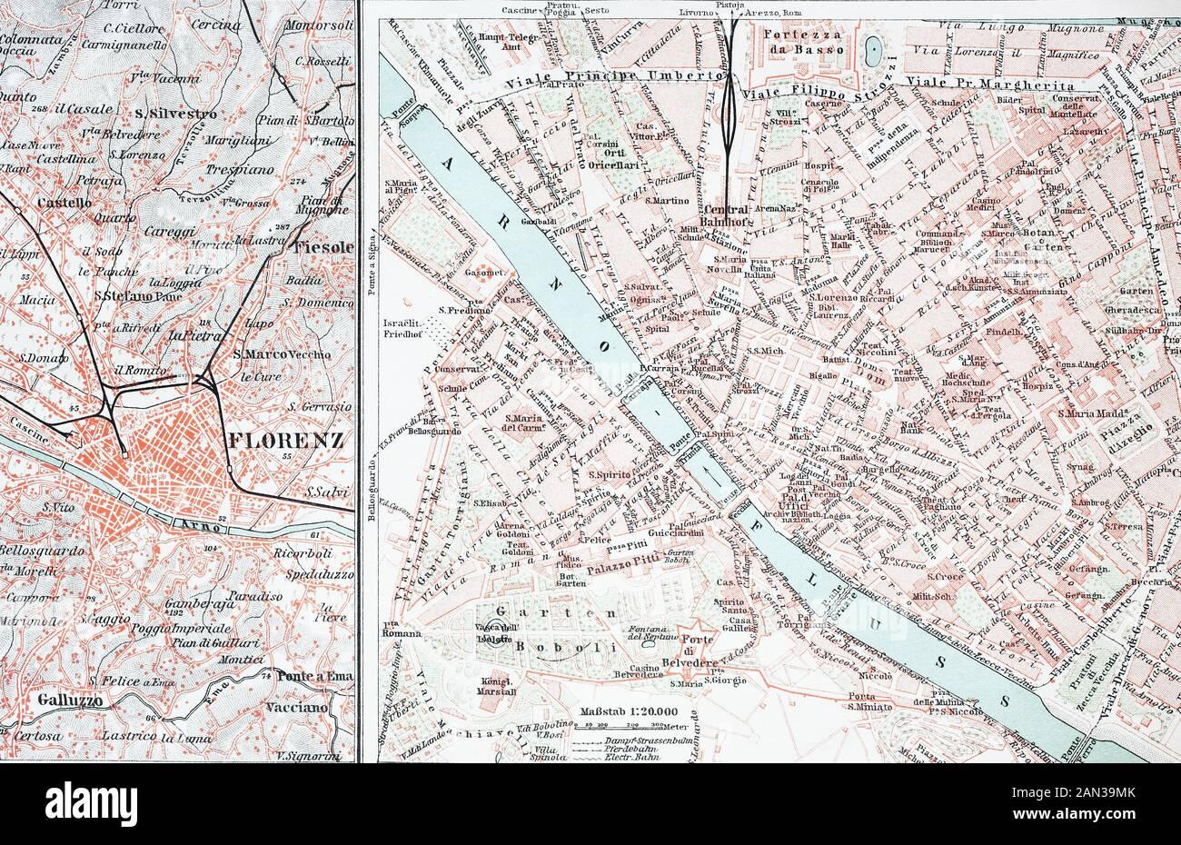 Firenze Cartina Centro Storico.Firenze Map Immagini E Fotos Stock Alamy