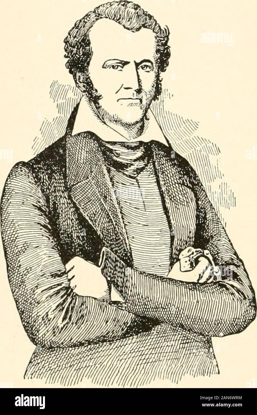 La storia e la geografia del Texas come detto nella contea di nomi . fratello,Rezin P. Bowie, inventore di famose coltello Bowie. Come youngmen erano attratti dalla temp-tation del commercio di schiavi, quindi andare-ing su, e in questo modo di essere venuto a conoscenza con il pirateLaFitte. James Bowie anche essere-venne collegata con anela spedizione in 1819. Nel 1828 hewas naturalizzato come cittadino messicano e più tardi sposò thetlaughter di Vice Governatore Veremendi a San Antonio. La sua celebre lotta indiano sulla strada a la Bandera, fromSan Antonio a San Saba, ha avuto luogo nel 1831. Egli era in Nac-ogdoches nel 1832 e troppo Foto Stock