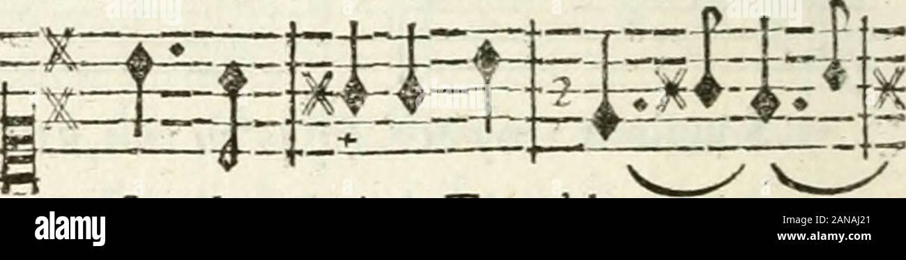"""Poesies de ml'abbé de L'Attaignant; contenant tout ce qui un parù de cet auteur sous le titre de Piéces dérobées; avec des augmentations très-considérables; des annotazioni sur chaque piéce qui en expliquent le sujet & l'occasione, & des airs notés sur toutes les chansons .. . Leil doux de te voir renver- fé la pelliccia rêne,Trembler -Y ?- A. ? • -A -irTA-f T I T tC j ( - 1-$*- .""""£ E33EE L* un"""" Q ? - & DAna-r 4% ie embraf- fer les gé- nie LIVRE V. S^î :_*£-*___ 3F^ nuux. nuux ; Tu cri- omphes,jei- ^ Foto Stock"""
