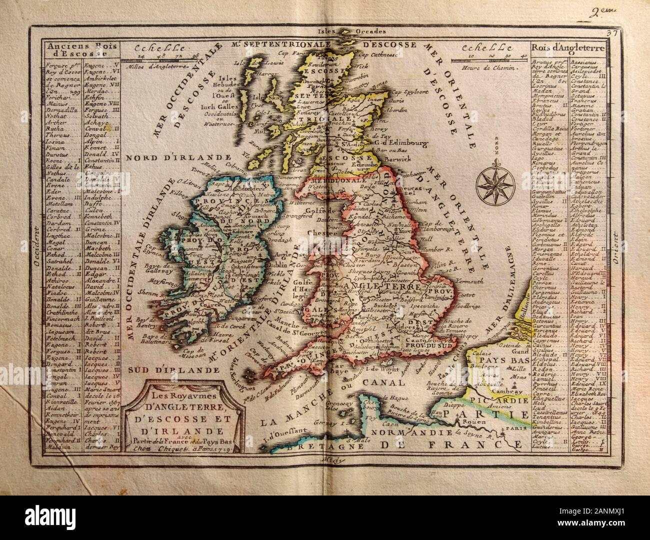 Cartina Inghilterra E Scozia.Mappa Del Regno Unito Immagini E Fotos Stock Alamy