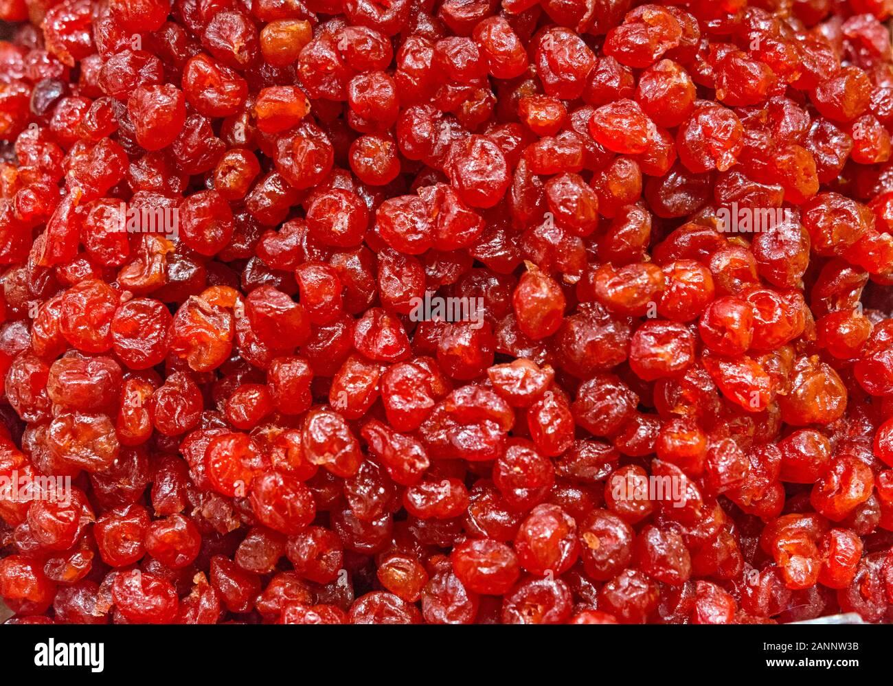 La ciliegia frutta essiccata come sfondo Foto Stock