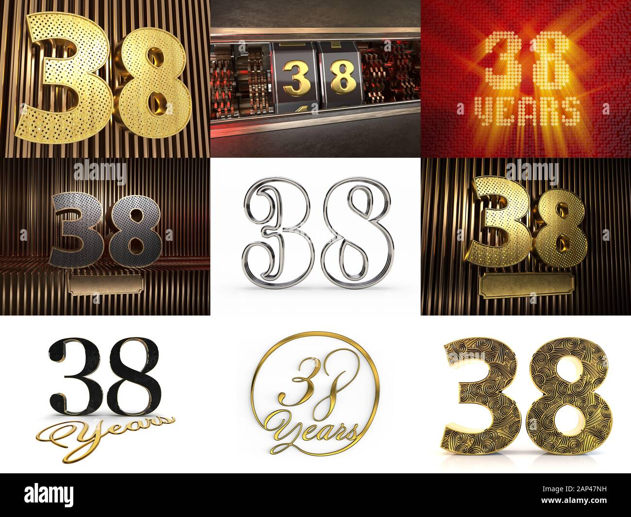 Number 38 Sign Immagini e Fotos Stock - Alamy
