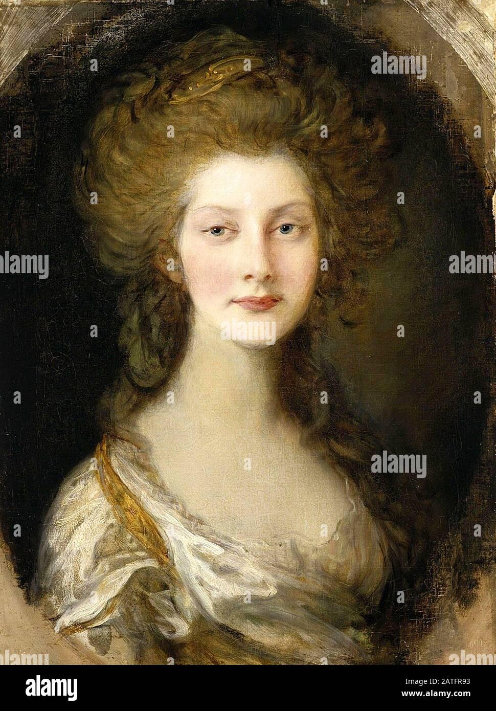 Principessa Augusta, di tredici anni di Thomas Gainsborough. Principessa Augusta Sofia del Regno Unito (1768 – 1840) sesto figlio e seconda figlia di Re Giorgio III e della Regina Charlotte. Foto Stock