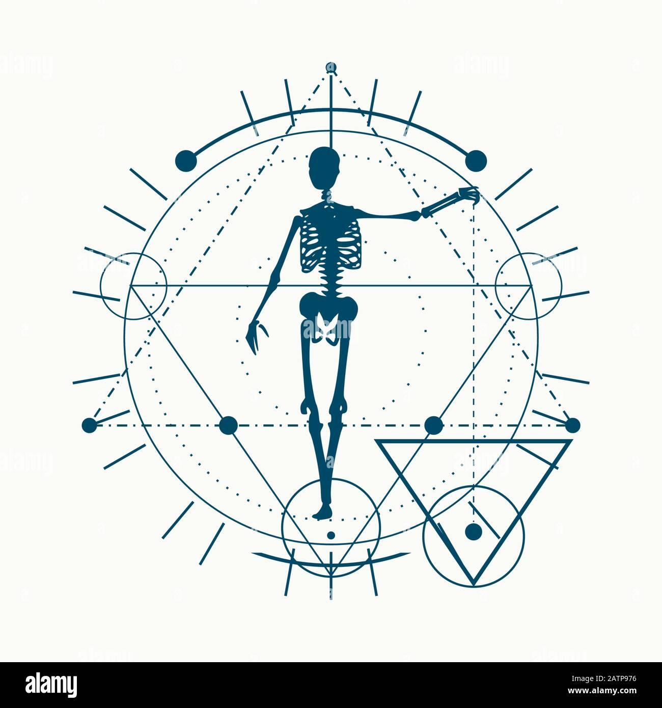 Esoterica simboli mistici Illustrazione Vettoriale