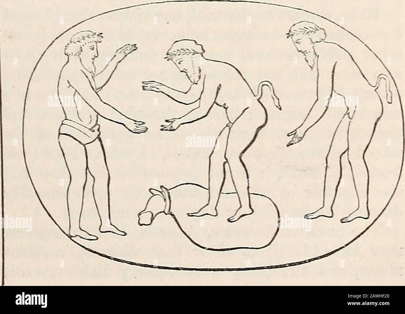Un dizionario di antichità greche e romane.. . Per quanto riguarda il motivo per cui Ascia è rappresentata monumenti onsepulchral, si veda Forcellini, Lexicon, s.v. [J. Y.] ASCLEPIEIA (aaxXriTTUia), il nome di festi-vals che probabilmente sono stati celebrati in tutti i placeove templi di Asclepius (Aescidapius) esistito.il più celebrato, tuttavia, è stato quello di Epi-daurus, che ha avuto luogo ogni cinque anni, è stato solennizzato con concorsi di processioni rsodiandad e giochi solenni. NEM. III. 145; Paus. II. 26. §. 7.)Ao-K7)Trieia sono anche menzionati a Lampsacus(Bbckh, Corp. Inscr. V Foto Stock