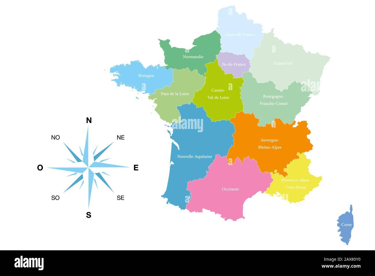 Cartina Francia Sud Dettagliata.Provence Map Immagini E Fotos Stock Alamy
