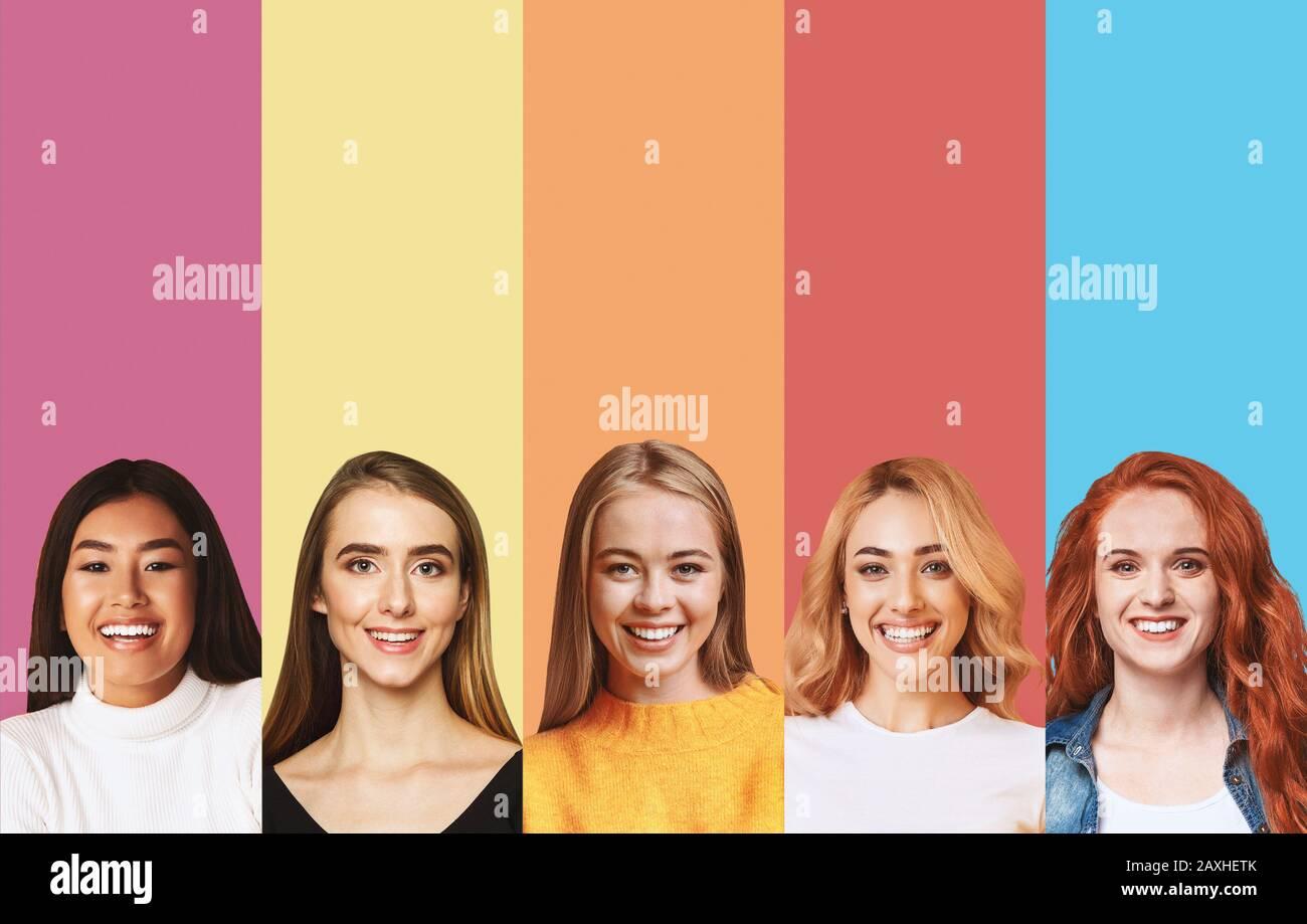 Face, Collage, Ethnicities Immagini e Fotos Stock Alamy