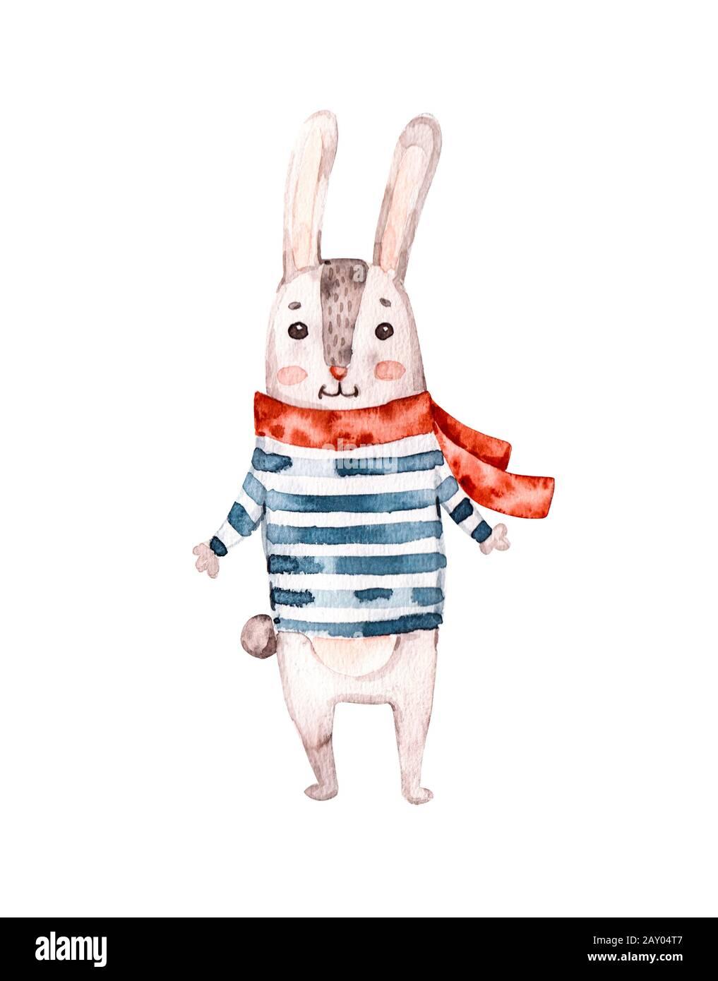 Coniglio Bunny Da Donna Pirata e Ossa incrociate Carino T-Shirt Stampata