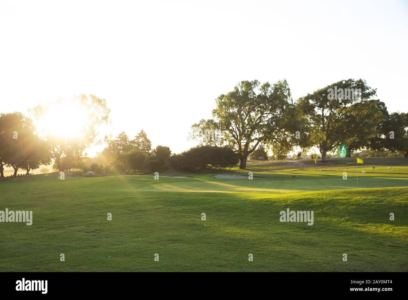 Campo da golf Foto Stock