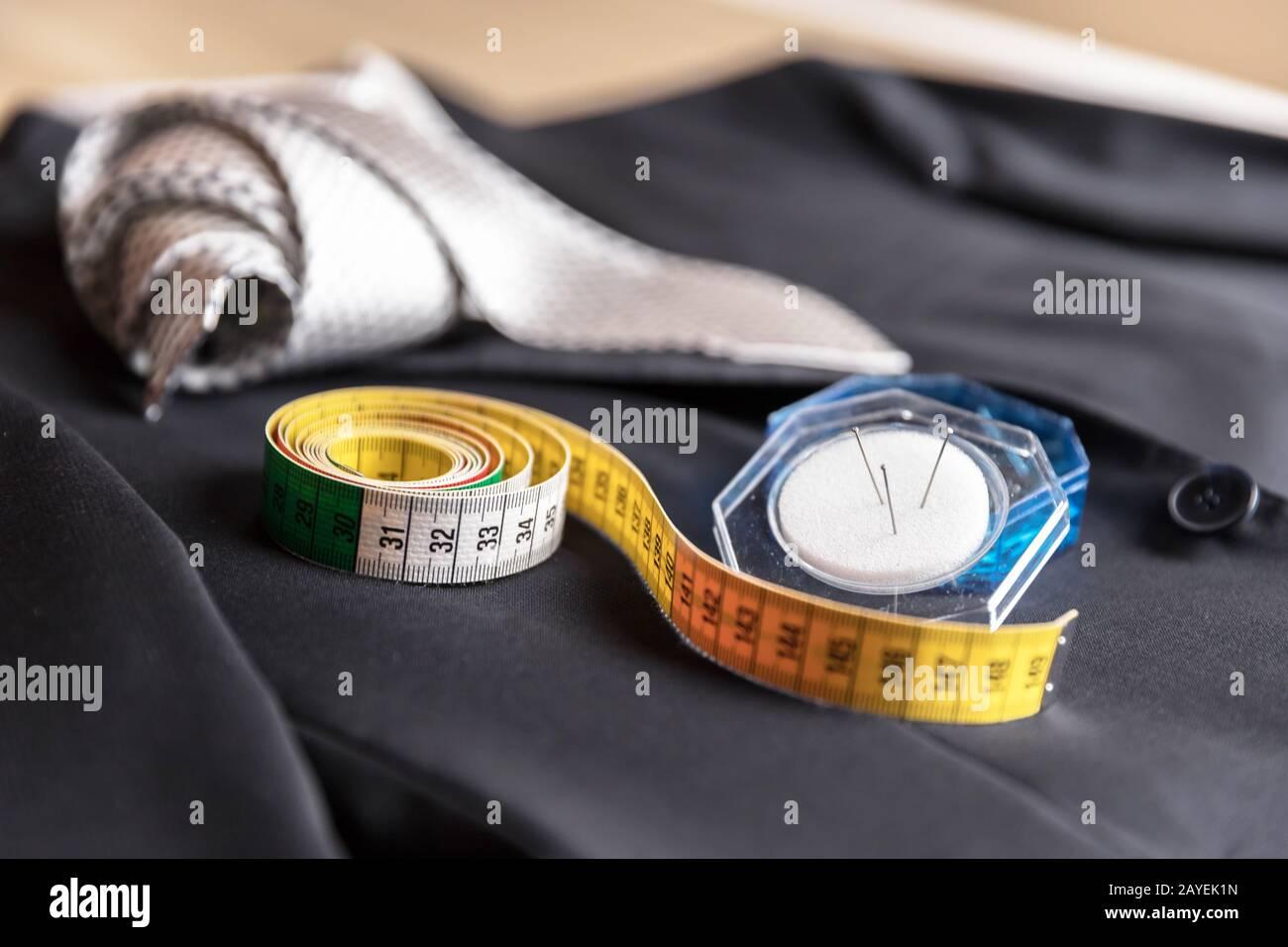 Giacca e cravatta dettaglio Foto Stock