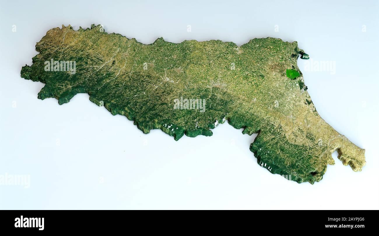 Cartina Italia Pianure.Vista Satellitare Della Regione Emilia Romagna Italia Rendering 3d Mappa Fisica Dell Emilia Romagna Pianure Montagne Laghi Catena Montuosa Appenninica Foto Stock Alamy