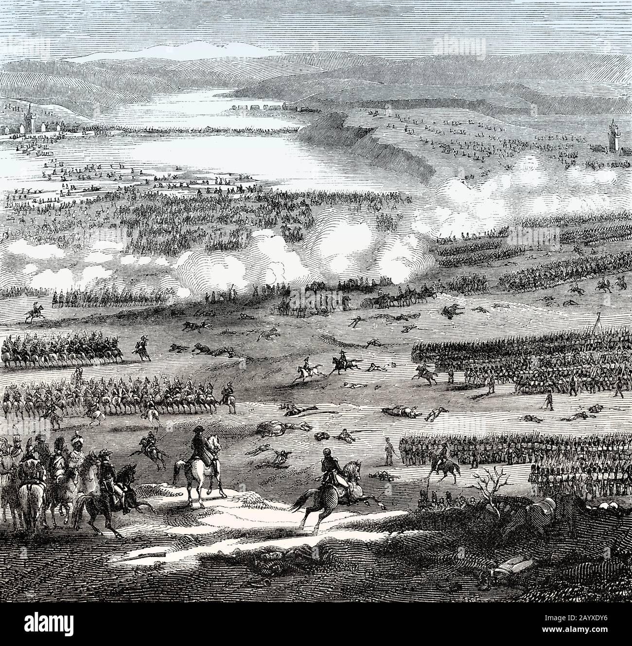 La Battaglia Di Austerlitz Il 2 Dicembre 1805, Guerre Napoleoniche Foto Stock