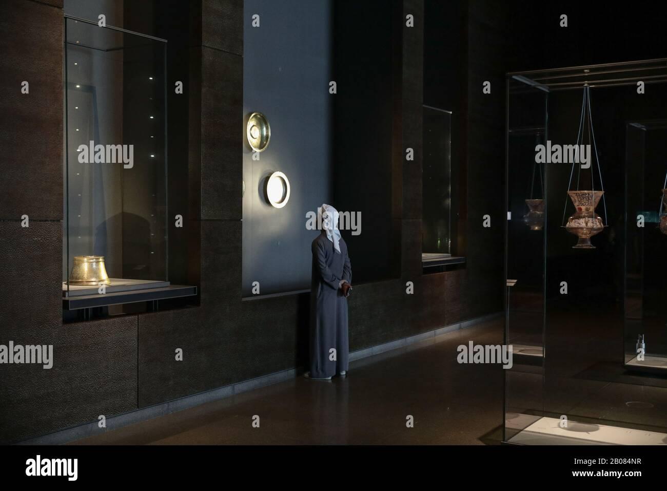 Museo Di Arte Islamica, Doha, Qatar, Il 10 Ottobre 2019. / Μουσείο Ισλαμικής Τέχνης, Ντόχα, Κατάρ, 10 Οκτωβρίου 2019. Foto Stock