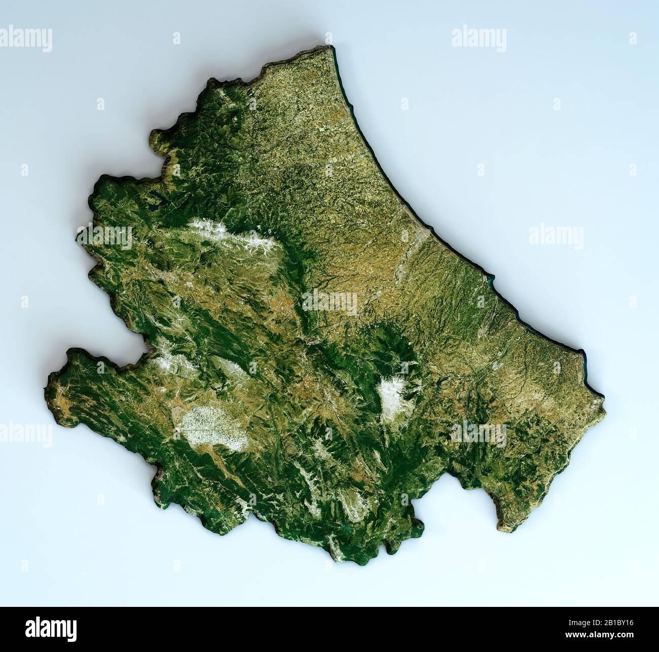 Abruzzo Cartina Politica Dettagliata.Mappa Della Regione Abruzzo Immagini E Fotos Stock Alamy