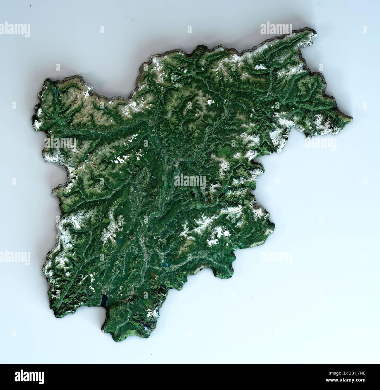 Cartina Italia Trentino Alto Adige.Vista Satellitare Della Regione Trentino Alto Adige Italia Rendering 3d Mappa Fisica Del Trentino Alto Adige Pianure Montagne Laghi Alpi Foto Stock Alamy