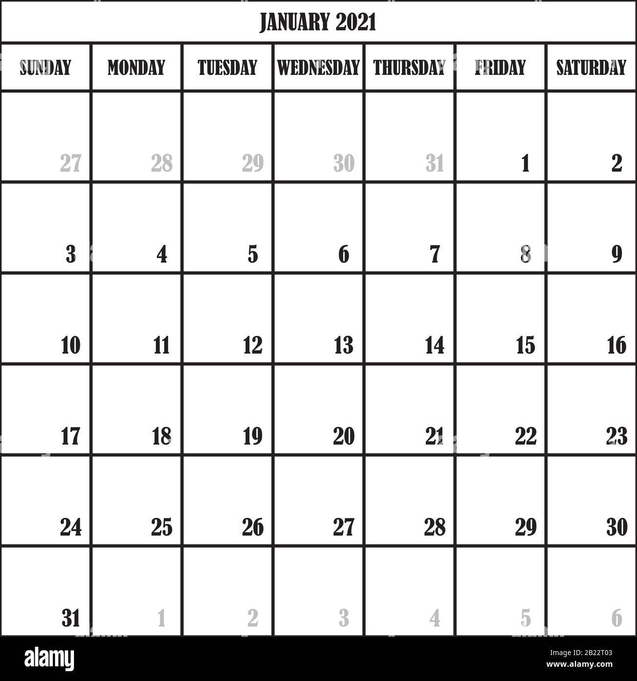 Calendario Gennaio 2021 Colorato CALENDARIO PIANIFICATORE MESE GENNAIO 2021 SU SFONDO TRASPARENTE