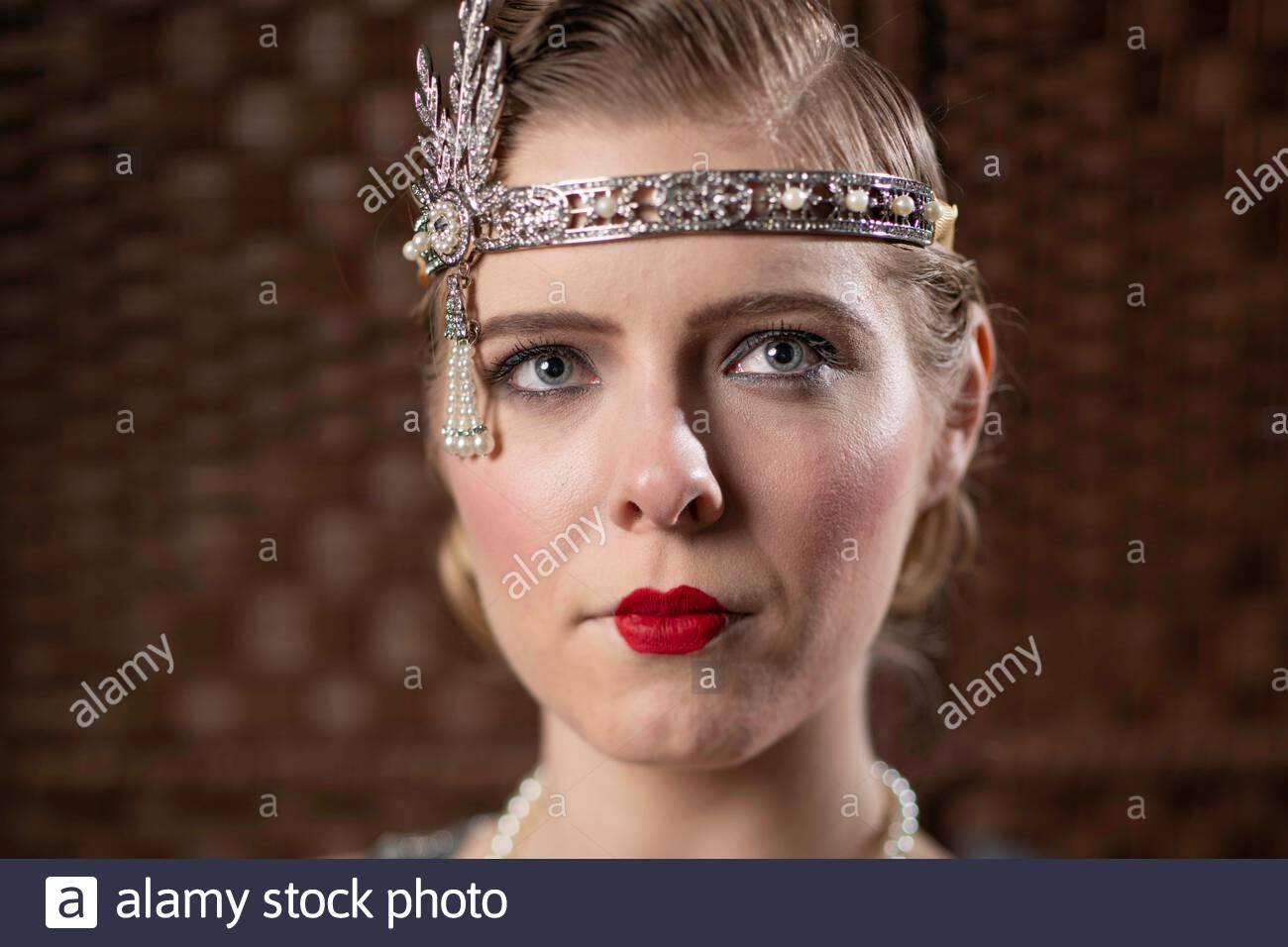 MOSTRA-STADIO-ANNI 1920 Nero in piuma fascia per capelli Anni 1920-Flapper-Charleston-DANCE