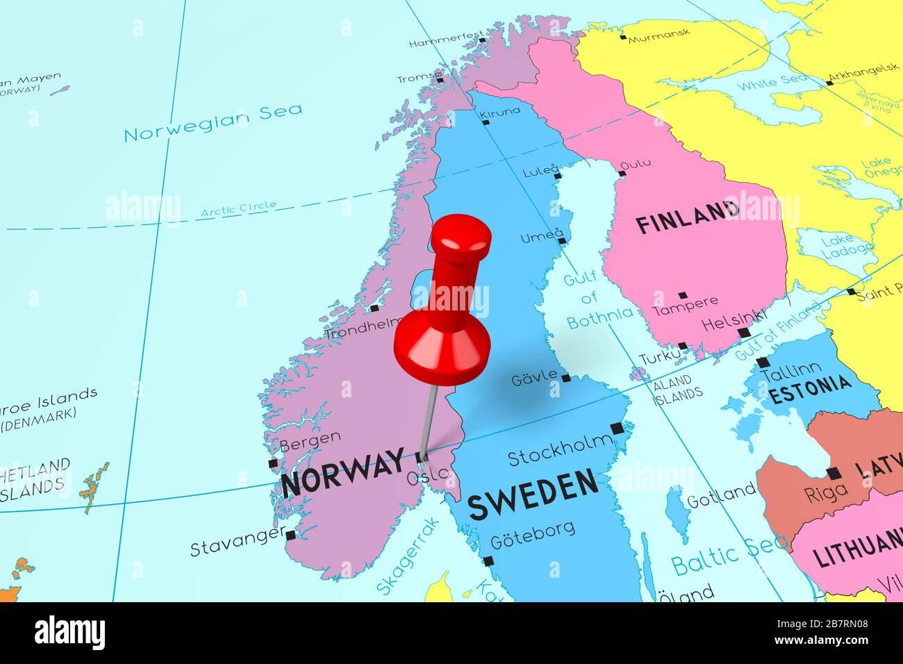 Cartina Norvegia Politica.Norway Map Immagini E Fotos Stock Alamy