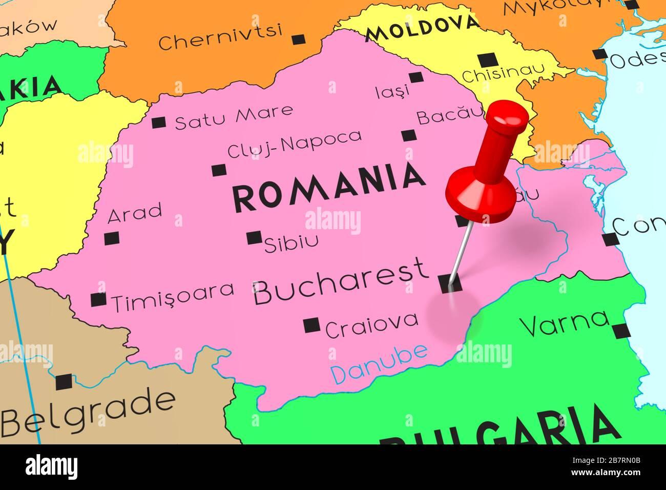 Cartina Dettagliata Romania.Bucharest Romania Europe Map Immagini E Fotos Stock Alamy
