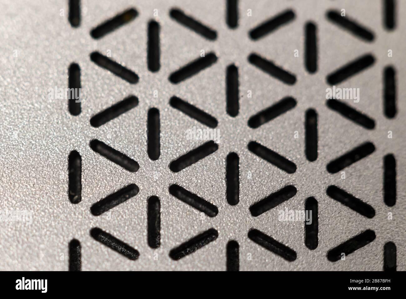 Nero e grigio diagonale simmetrico ripetizione lineare elegante motivo Foto Stock
